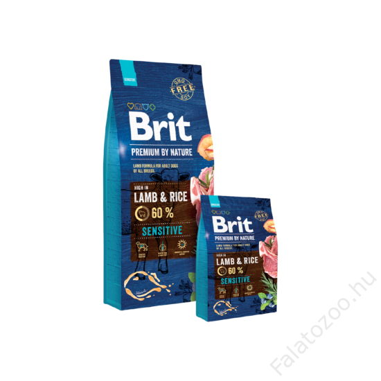 Brit Premium by Nature Lamb & Rice 2db 15kg