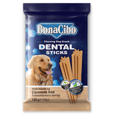 BONACIBO TREATS for DOGS DENTAL STICKS 180g