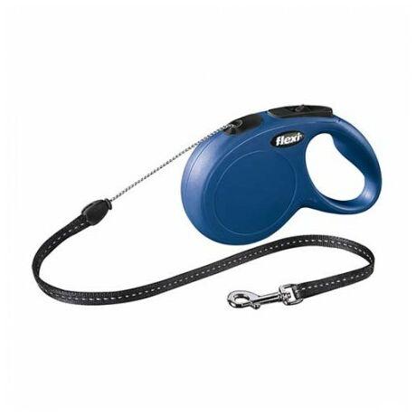 Flexi New Classic zsinór M 8m 20kg-ig kék