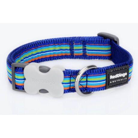 Red Dingo Horizontal Stripes Dark Blue Large kutya nyakörv