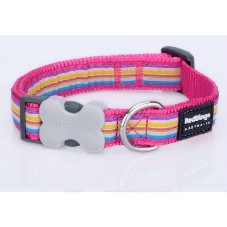 Red Dingo Horizontal Stripes Hot Pink Large kutya nyakörv