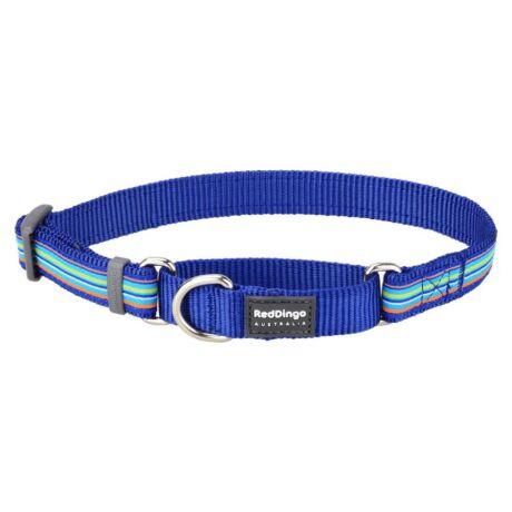 Red Dingo Horizontal Stripes Dark Blue Medium Martingale nyakörv