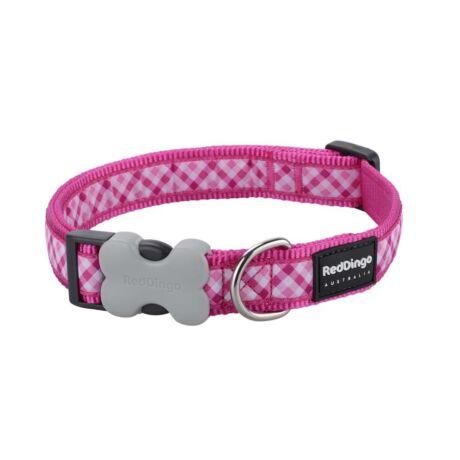 Red Dingo Gingham Hot Pink Small kutya nyakörv