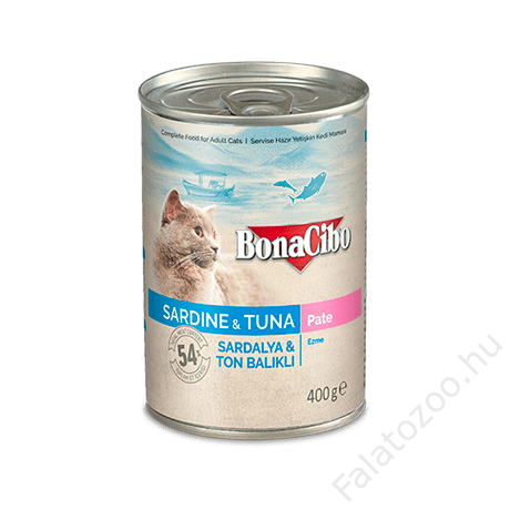 BONACIBO CANNED CAT FOODS SARDINE & TUNA 400g