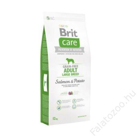 Brit Care Grain-free Adult Large Breed Salmon & Potato 12 kg
