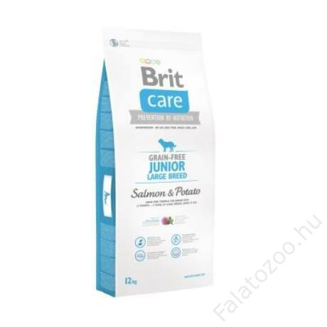 Brit Care Grain-free Junior Large Breed Salmon & Potato 12 kg 2db