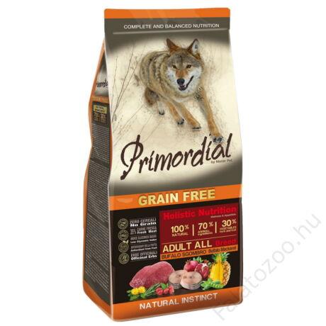Primordial Grain Free Adult Bivaly és Makréla 12kg