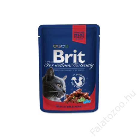 Brit Premium Cat Pouches Beef Stew With Peas 100 G