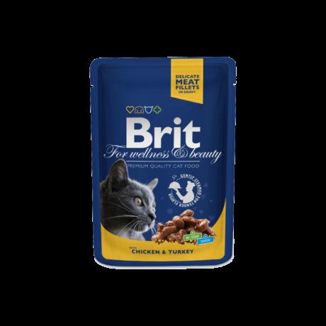 Brit Premium Cat Pouches Chicken & Turkey 100 G