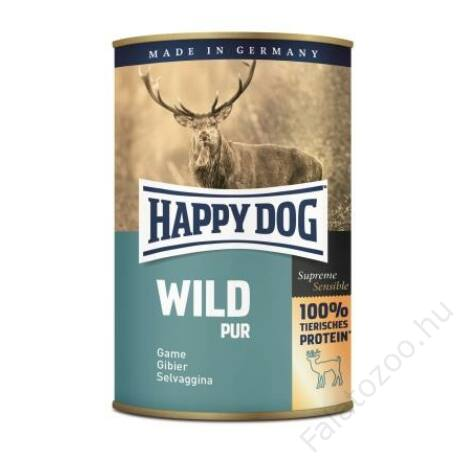 Happy Dog konzerv WILD PUR (Vadhúsos) 6x400g