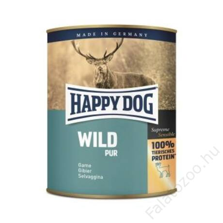 Happy Dog konzerv WILD PUR (Vadhúsos) 6x800g