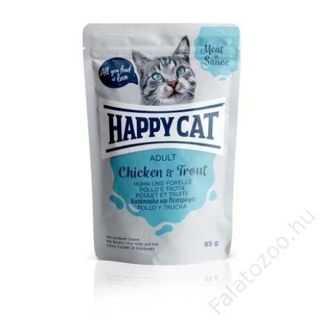 HAPPY CAT POUCH SZÓSZ CSIRKE-PISZTRÁNG 24x85g