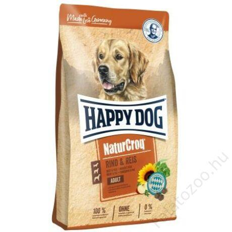 Happy Dog NATUR-CROQ RIND & REIS (Marha & rizs) 15kg
