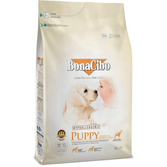 BONACIBO PUPPY (Chicken_and_Rice with Anchovy) 15 kg