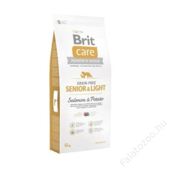 Brit Care Grain-free Senior and light Salmon & Potato 12 kg