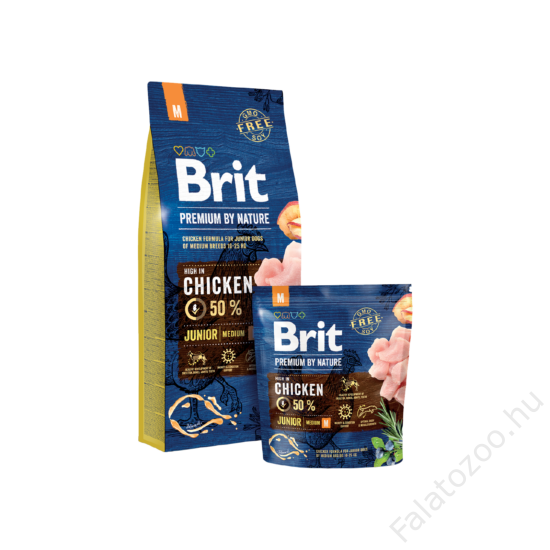 Brit Premium by Nature Medium Junior 2db 15kg